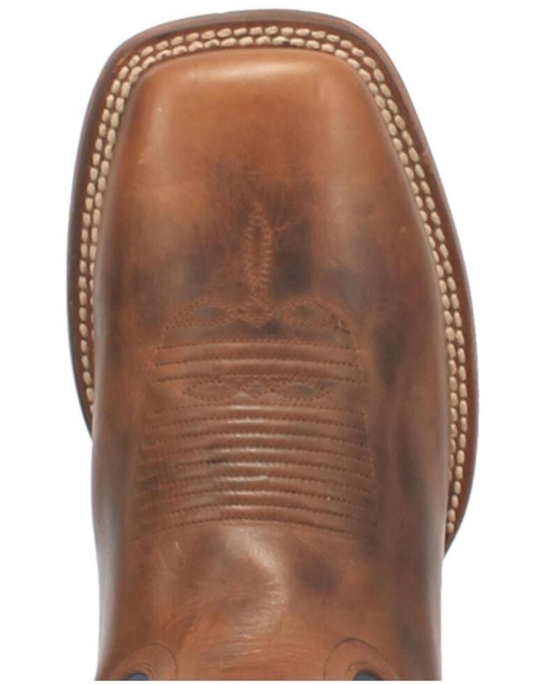Dan Post Men's Waxy Brown Western Boots - Wide Square Toe, Brown, hi-res