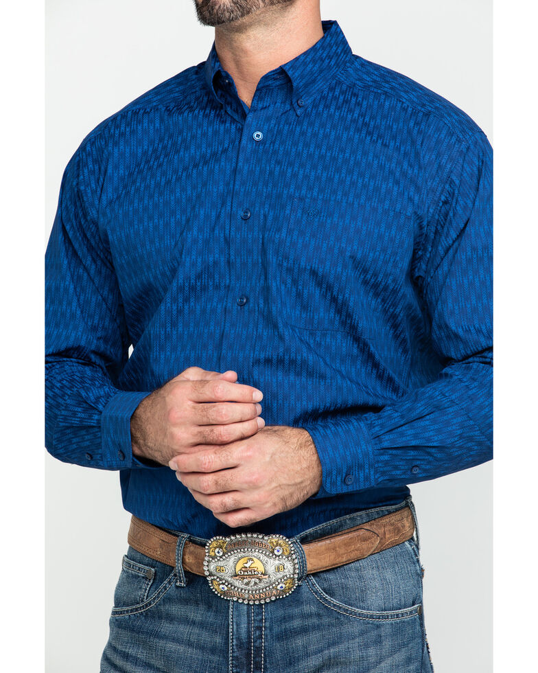 Ariat Men's Groton Multi Print Long Sleeve Western Shirt - Big , Multi, hi-res