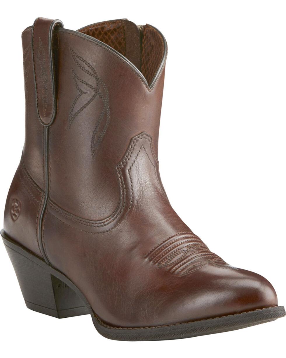 Ariat Women's Dark Brown Darlin Booties - Medium Toe, Dark Brown, hi-res