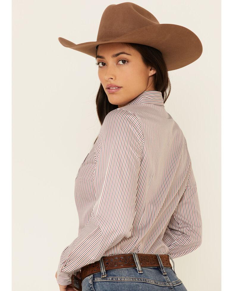 Cinch Women's Purple Tencel Striped Long Sleeve Western Core Shirt , Purple, hi-res