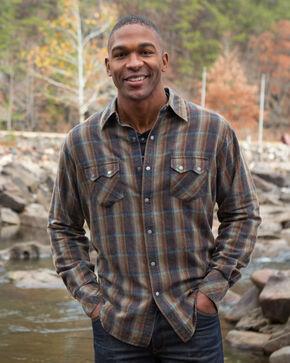 Ryan Michael Men's Grizzly Sawtooth Plaid Shirt , Brown, hi-res