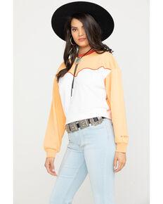 Wrangler Modern Women's 80's Peach Sweatshirt, Peach, hi-res