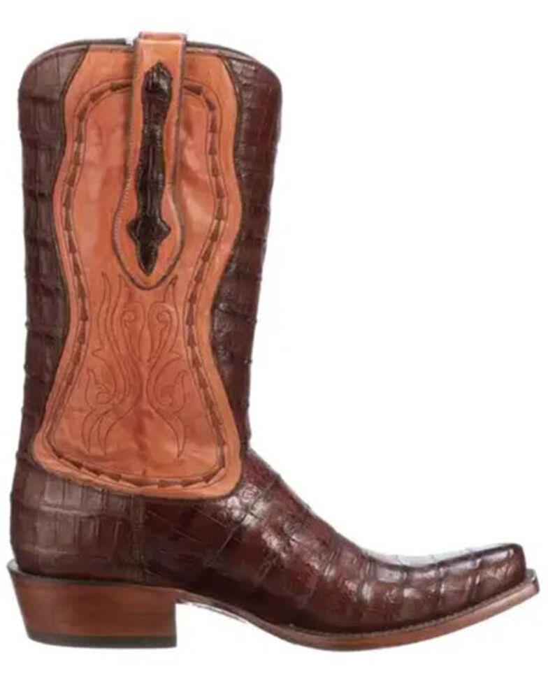 Lucchese Men's Barcenas Ayala Western Boots - Wide Square Toe, Brown, hi-res