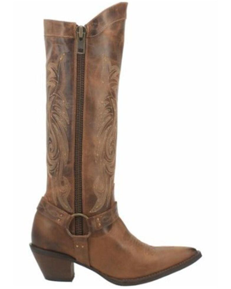 Laredo Women's Diamante Western Boots - Snip Toe, Brown, hi-res