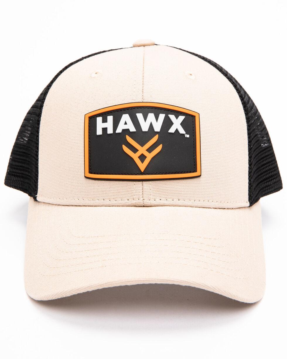 Hawx® Men's Khaki Rubber Patch Trucker Cap, Beige/khaki, hi-res