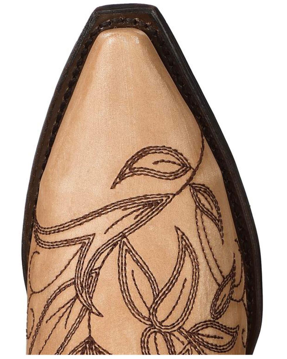 Dan Post Women's Brown Nora Western Cowgirl Boots - Snip Toe , Brown, hi-res