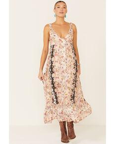 Coco + Jaimeson Women's Cream Floral Midi Dress, Multi, hi-res