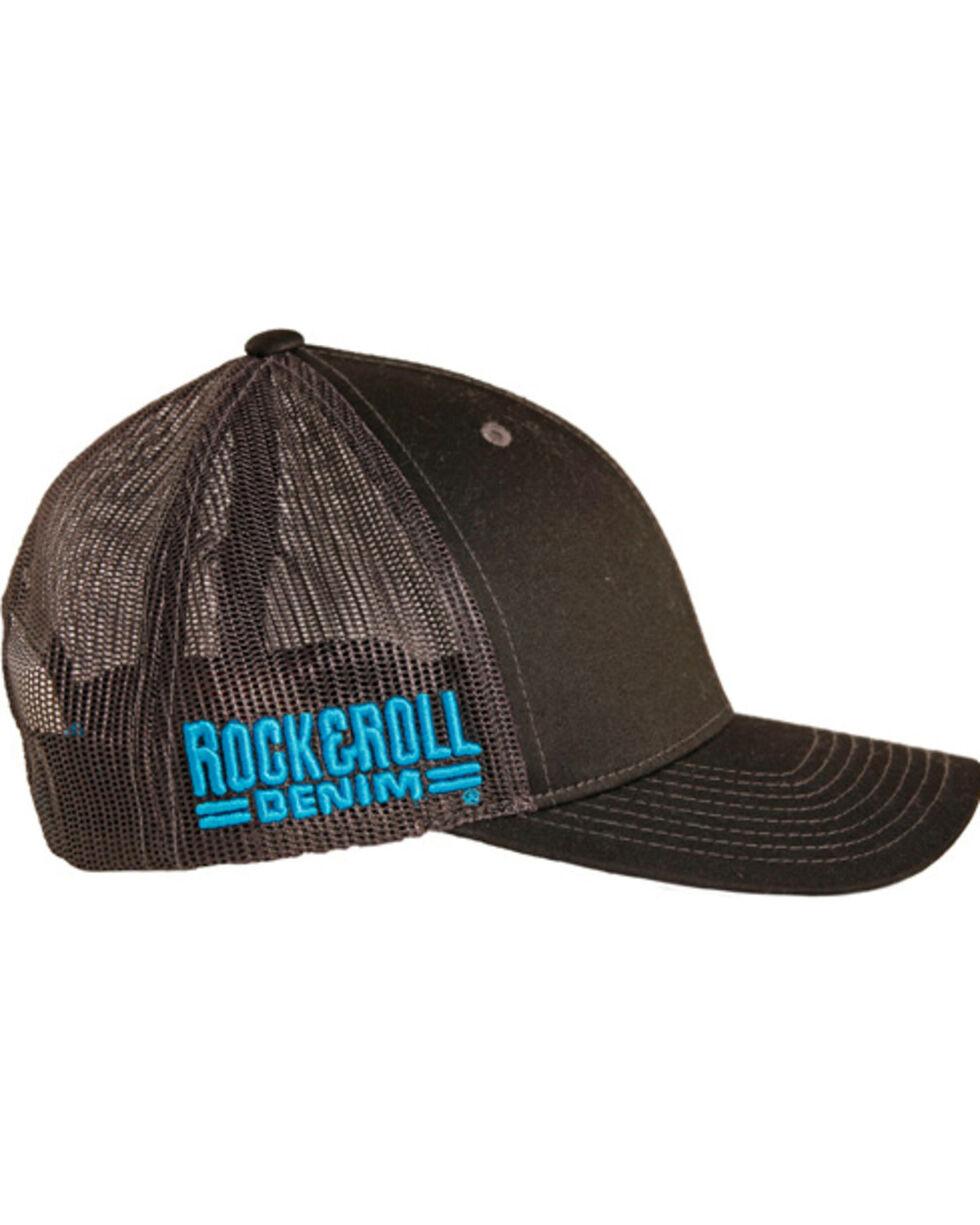 Rock & Roll Cowboy Men's Two Tone Trucker Cap, Black, hi-res