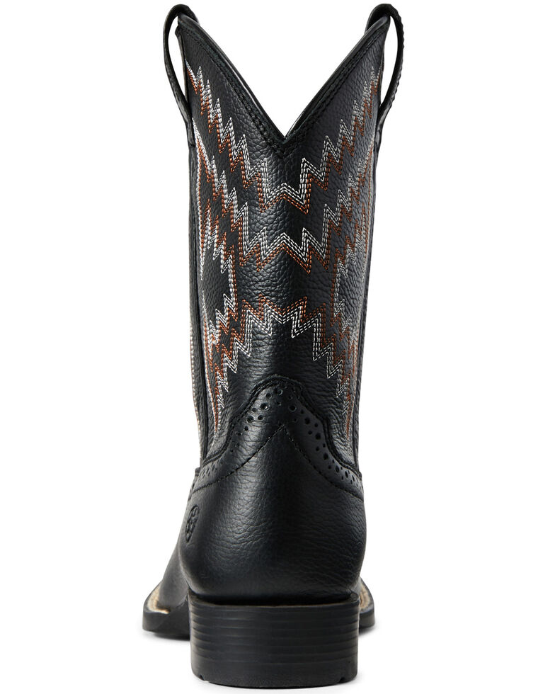 Ariat Youth Boys' Tycoon Bear Western Boots - Wide Square Toe, Black, hi-res