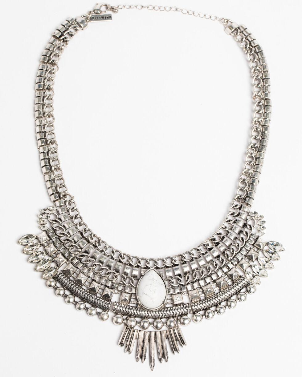 Idyllwind Women's Mischief Mix White Turquoise Bib Necklace, Silver, hi-res