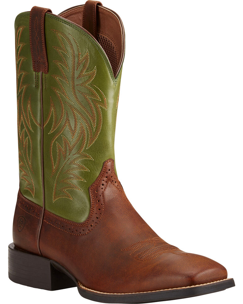 Ariat Men's Sport Western Cowboy Boots - Square Toe, Tan, hi-res