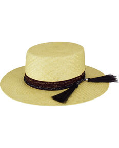 Bailey Men's Santee Bolero Crown Western Hat, Natural, hi-res