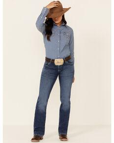 Wrangler Women's Mae Bootcut Jeans, Blue, hi-res