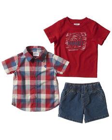 Carhartt Infant Boys' Denim Short & Shirt 3-Piece Set  , Red, hi-res