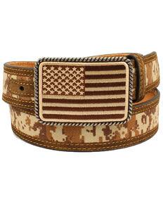 Ariat Men's Digital Camo Western Belt, Brown, hi-res