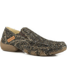 Roper Women's Multi-Color Brown Tweed Driving Mocs - Moc Toe, Brown, hi-res