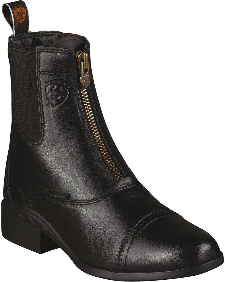 Ariat Heritage Breeze Paddock Riding Boots - Round Toe, Black, hi-res