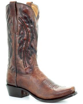 Corral Men's Jim Western Boots - Narrow Square Toe, Honey, hi-res