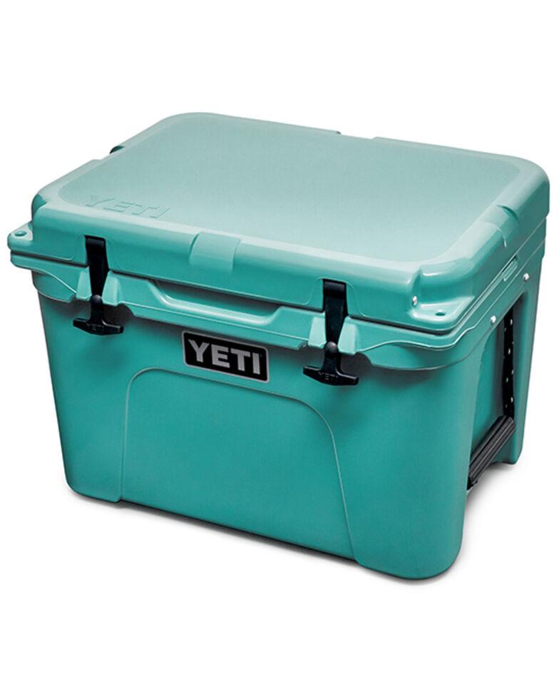 Yeti Tundra 35 Aquifer Blue Hard Cooler, Blue, hi-res