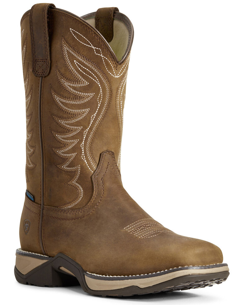 Ariat Women's Anthem Waterproof Western Boots - Square Toe, Brown, hi-res