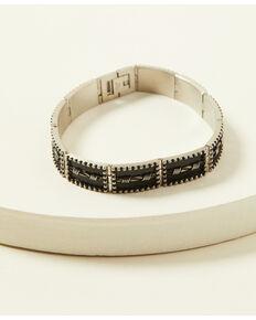 Moonshine Spirit Men's Barbed Wire Stretch Bracelet , Silver, hi-res