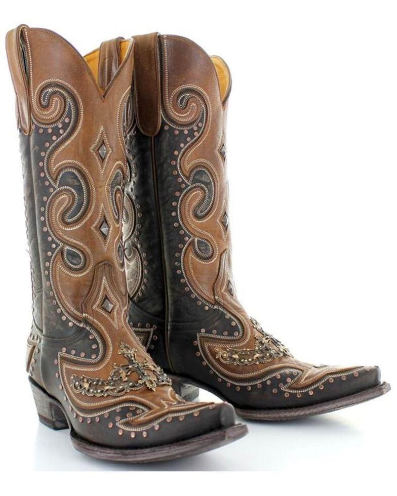 Old Gringo Women's Bonanza Chic Fancy Cowgirl Boots - Snip Toe, Chocolate, hi-res
