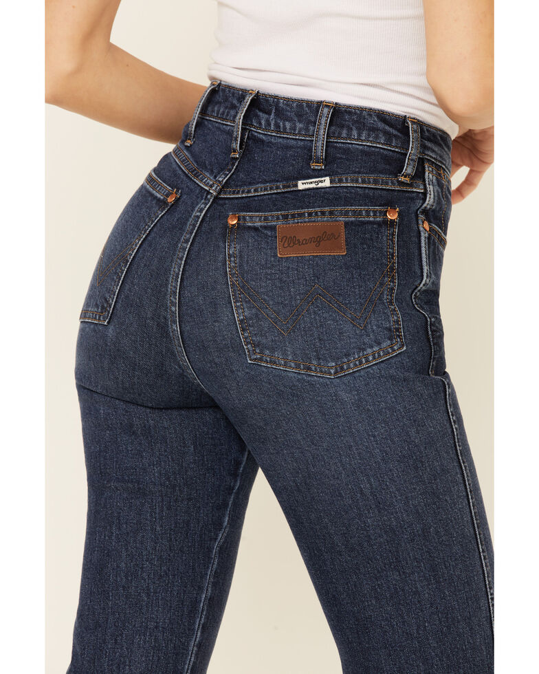 Wrangler Women's Westward Straight Leg Jeans, Blue, hi-res