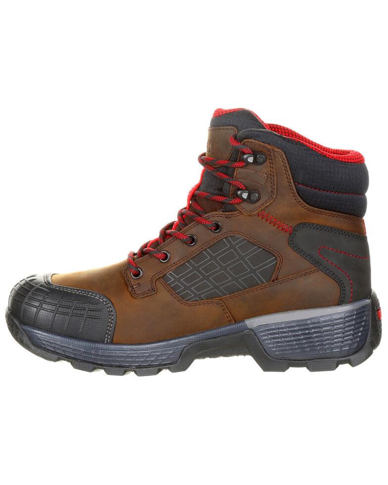 Rocky Men's Treadflex Waterproof Work Boots - Composite Toe, Dark Brown, hi-res