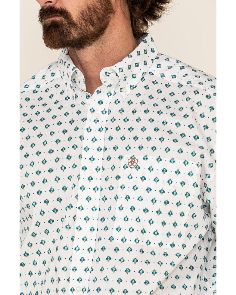 Ariat Men's Ollie Aztec Geo Print Long Sleeve Western Shirt - Big , White, hi-res