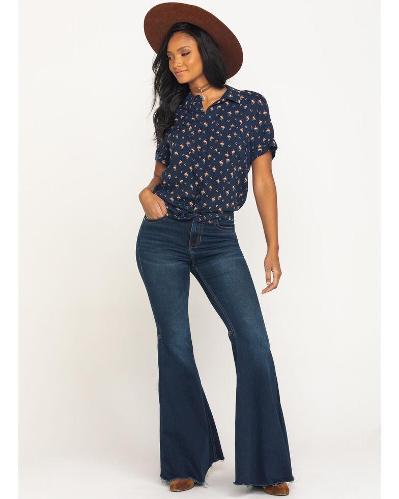 Ariat Women's Maverick Shirt, Navy, hi-res
