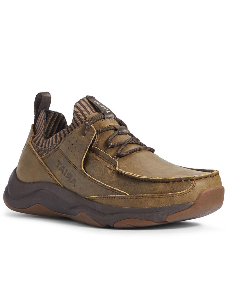 Ariat Men's Wicker Country Mile Hiker Boots - Moc Toe, Brown, hi-res