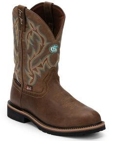 Justin Men's Aransas Tan Western Boots - Round Toe, Tan, hi-res