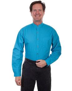 Scully RangeWear Men's Light Blue Geo Print Long Sleeve Western Shirt , Light Blue, hi-res