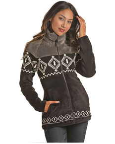 Powder River Outfitters Women's Black Multi Media Aztec Print Jacket , Black, hi-res