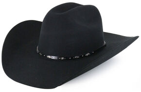 Cody James Drifter 3X Rider Crown Wool Felt Cowboy Hat, Black, hi-res