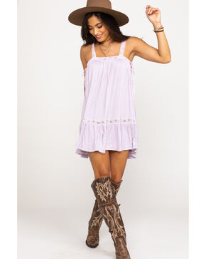 Free People Women's Sweet Thing Tunic Dress, Light Purple, hi-res
