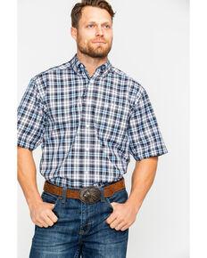569e3044 Ariat Men's Farnsworth Plaid Short Sleeve Western Shirt