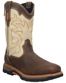Dan Post Men's Storm Tide Waterproof Western Work Boots - Composite Toe, Ivory, hi-res