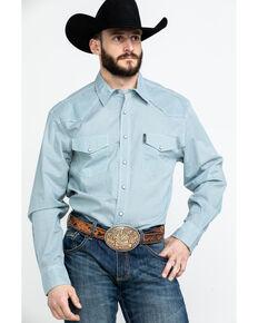 Cinch Men's Blue Modern Geo Print Long Sleeve Western Shirt , Blue, hi-res
