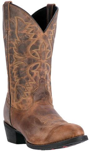 Laredo Birchwood Cowboy Boots - Medium Toe , Tan, hi-res