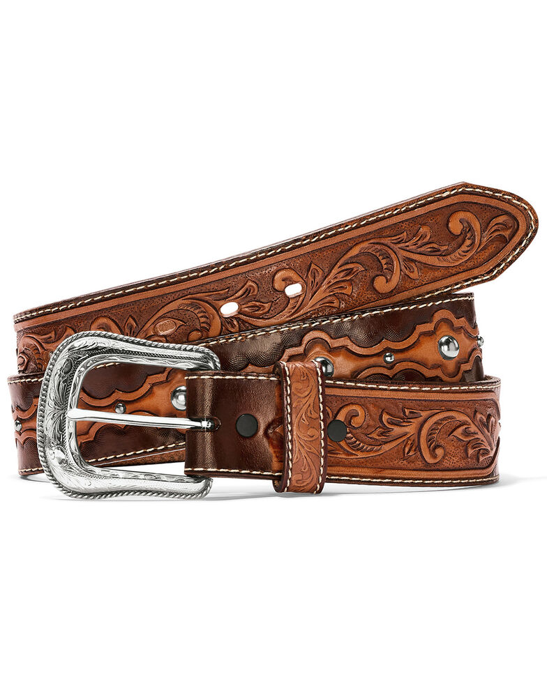 Leegin Men's El Capitan Belt, Tan, hi-res