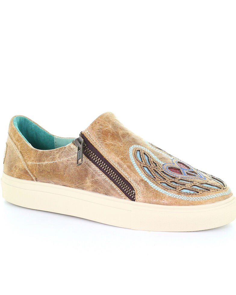 Corral Women's Straw Heart & Wings Inlay Shoes, Multi, hi-res