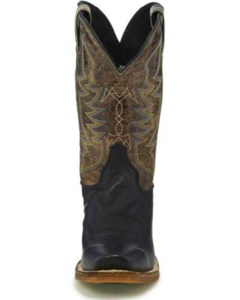 Justin Men's Black Navigator Western Boots - Square Toe, Black, hi-res