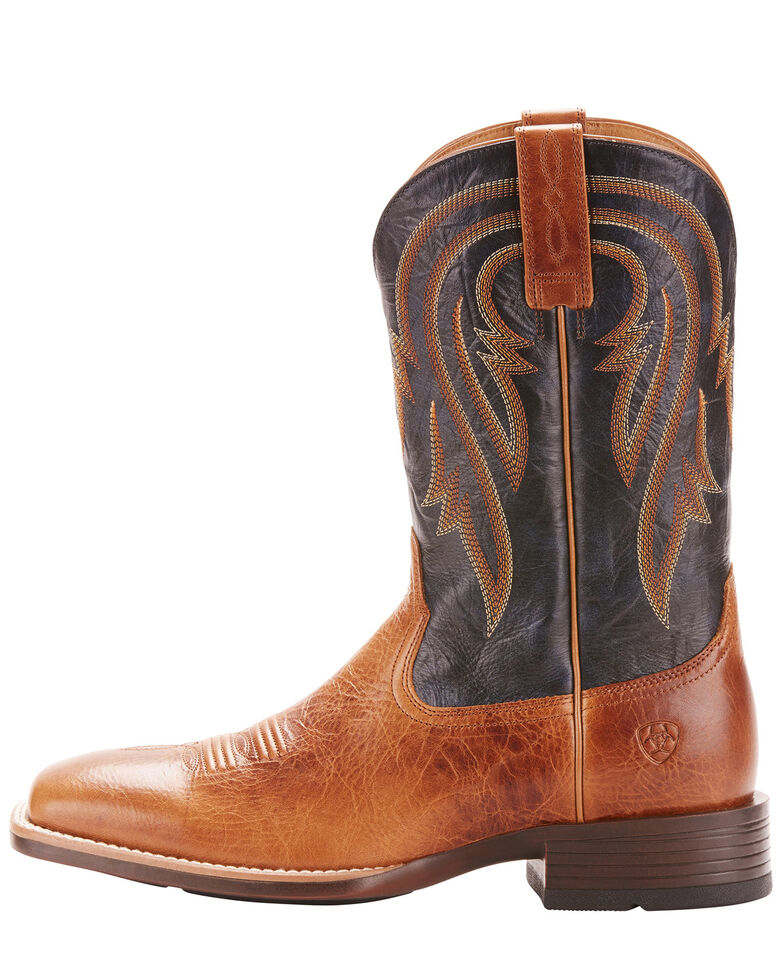 Ariat Men's Plano Western Boots - Wide Square Toe, Lt Brown, hi-res