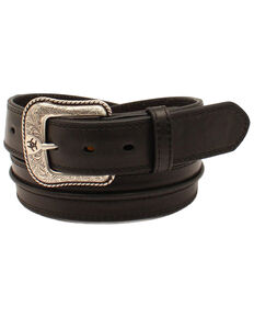 Ariat Men's Bump Leather Western Belt, Black, hi-res