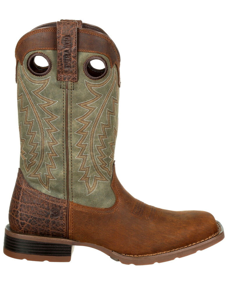 Durango Men's Mustang Faux Exotic Western Boots - Square Toe, Chocolate, hi-res