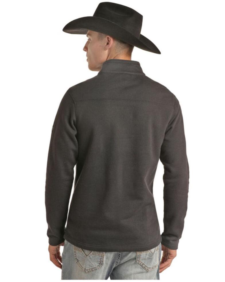 Rock & Roll Denim Men's FR Black 1/4 Zip Work Pullover , Black, hi-res