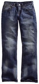Tin Haul Men's Jagger Fit Two-Tone Stitch Bootcut Jeans, Denim, hi-res