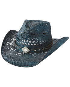Buillhide Women's Magnificent Black Western Hat, Black, hi-res