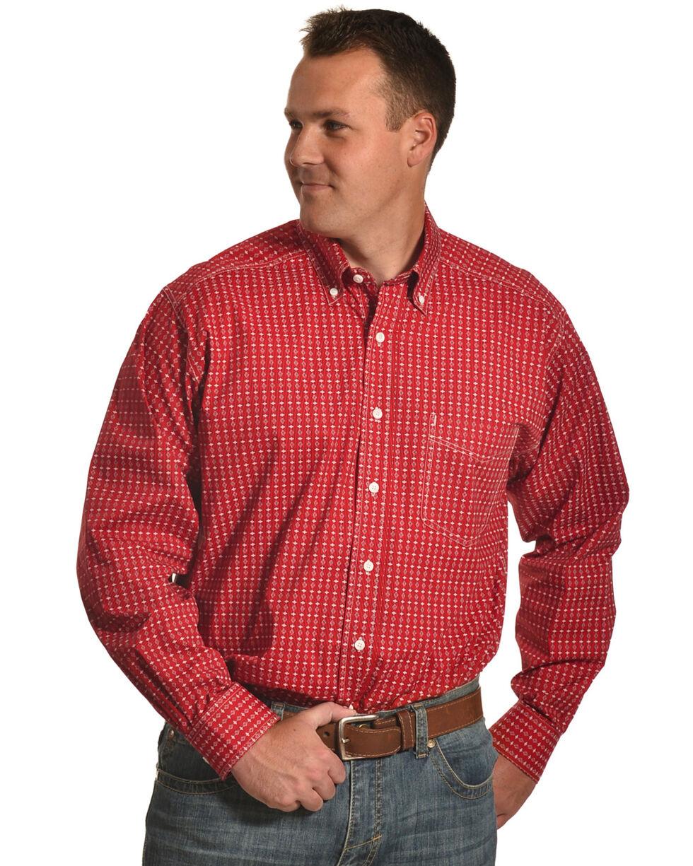 Tuf Cooper Men's Red Multi Plaid Shirt , Red, hi-res